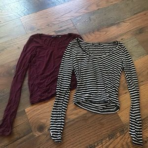 Brandy Melville long sleeve crop tops